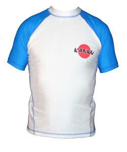 KANKU Short Sleeve Rash guard White, Blue, Black, Brown, BJJ, MMA, Fitness