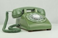 Professionally Restored - Vintage Antique Rotary Telephone- Moss Green 500