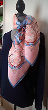 MINT BABY PINK RYTHMES DU MONDE  HERMES SCARF LOVELY COND NO ISSUE