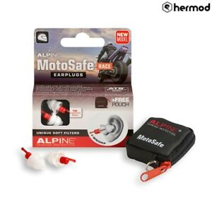Alpine MotoSafe Motorbike Motorcycle Race Reusable Earplugs Ear Plugs
