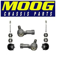 For Isuzu Honda Pair Set of 2 Front Outer Steering Tie Rod Ends Moog ES2954