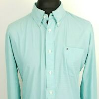 Tommy Hilfiger Mens Casual Shirt XL  EXTRA LARGE Long Sleeve Blue Regular Fit