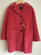 NWT Weekend Max Mara Woman's Button Down Wool/Alpaca Red Coat US Size 2