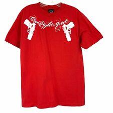 187 Inc Men's M Red Guns Graphic Tee Shirt T-Shirt