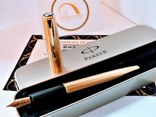 18ct Gold Rose Plated Metal Parker Frontier Fountain Writing Pen Gift Ink 18k
