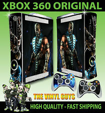 Xbox 360 Original Sub Zero Mortal Kombat X Hielo Ninja Sticker Skin & 2 Pad Skins