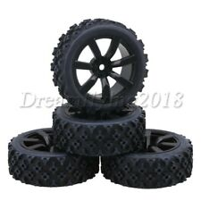 4PCS Rubber Tires Tyre & 7-spoke Wheel Rim for RC1:10 On-road Racing Car 72x26mm