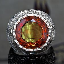 925 Sterling Silver Mens Ring with amazing color changing Diaspore unique item