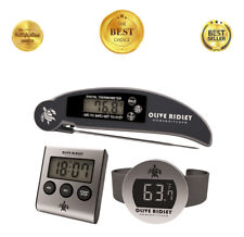 Digital LCD Meat Cooking Kitchen Alarm Thermometer Timer, Wine Bottle Thermomter