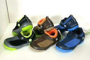 New Kids Crocs Dawson Suede Slip-On Clog Boys Toddler Winter Shoes SZ 8 9 10