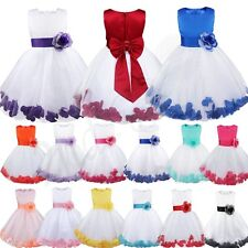 Baby Princess Bridesmaid Flower Girl Dress Wedding Formal Petals Lace Dresses