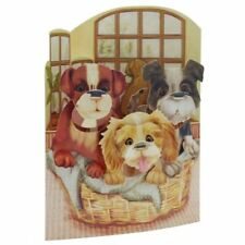 Santoro 3D Swing Card - Puppies in a Basket