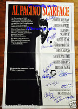 SCARFACE PACINO SIGNED 27X41 FOLDED MOVIE POSTER LOGGIA MONTANA PROOF PSA COA
