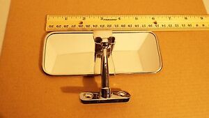 CHEVY, HOT ROD, VINTAGE, BOMBER,  INSIDE INTERIOR REAR VIEW MIRROR