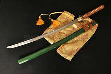 Full Tang Katana Japanese Samurai Dragonfly Sword 1060 Carbon Steel Blade Sharp