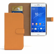 Bolso para Sony Xperia z3 flip case, funda protectora, funda, protección naranja