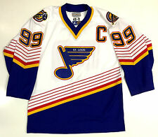WAYNE GRETZKY ST LOUIS BLUES STARTER AUTHENTIC JERSEY SIZE 48 RARE