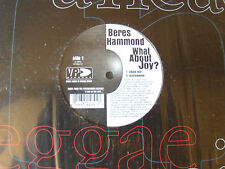 "BERES HAMMOND : What about joy? 12"" MAXI 45T Jamaica VP records; with SLY DUNBAR"