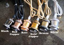 ONSALE 5 color Industrial Socket Vintage wire Pendant Edison Lamp ceiling light