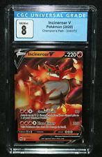 Pokemon Incineroar V - Champion's Path 008/073 (CGC NM/Mint 8) 2020