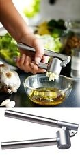 Heavy Duty Stainless Steel Garlic Squeezer Press Crusher Removable Insert Mash