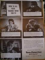 1942 ROYAL CROWN COLA how to get your second wind,ad