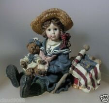 """BOYDS COLLECTION YESTERDAY'S CHILD""""BETSY WITH EDMUND... THE PATRIOTS"""" 3503 MIB"""