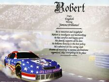 """""""Race Car"""" Name Meaning Prints Personalized (Automotive, Racing, NASCAR)"""