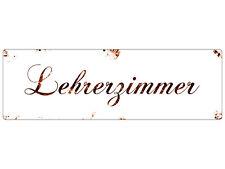 METALLSCHILD Shabby Blechschild Türschild LEHRERZIMMER Geschenk Lehrer Schule