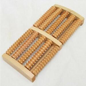 Wooden Foot Roller Massager Wood Massage Reflexology Relax Relief Spa Care