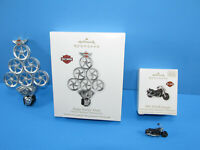 2 Hallmark Harley 1991 FXDB Sturgis Happy Harley Days Christmas Ornaments New