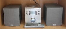 Micro Stereoanlage CD Player Radio Fernbedienung silber TCM