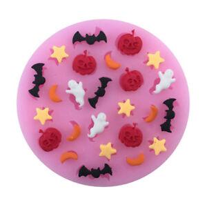 halloween pumpkin bat moon star polymer clay mold fondant mold flexible d^lk