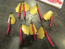 ancien lot 8 petites cuilleres tournantes metalliques ep 1950 peche collector