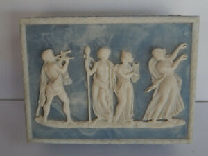 """Authentic Incolay Box Blue White 10"""" L X 7.1/4"""" W X 3"""" H"""