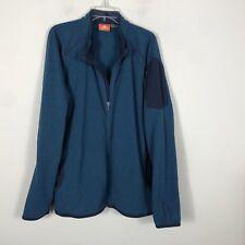 Merrell Fleece Jacket Men's 2XL Navy Blue Light Jacket 1/2 Zip Pull Over EUC