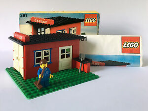 Vintage LEGO Town 361 Garage (1979) Boxed, Instructions, Complete