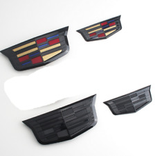 2pc New Front Grille Rear Trunk Emblems Badges Fit Cadillac ATS XTS XT5