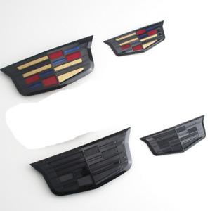 2pc New Front Grille Rear Trunk Emblems Badges Fit Cadillac MOST ATS XTS XT5