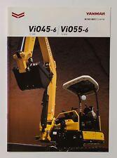 06579 New!! 2014 YANMAR ViO45 55 Excavator Power Shovel Japanese Catalog Flyer