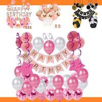 Luftballon Happy Birthday Party Set Geburtstag Girlande Folienballon Ballon Deko