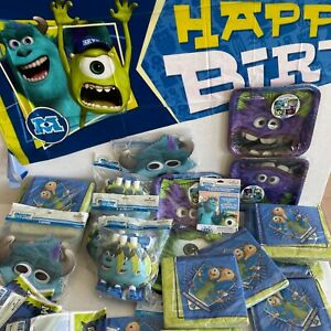 Monsters University Birthday Party Accessories Plates / Invites / Banners / Bags