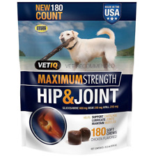 VetIQ 92100002180 Maximum Strength Hip and Joint Supplement for Dogs - 180 Count