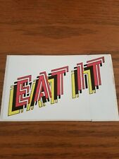 HUMBLE PIE  EAT IT PROMO STICKER