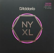 D'Addario NYXL 6-String Bass Guitar Strings long scale gauges 32-130