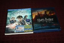 Harry Potter & Deathly Hallows Part 2 [Blu-ray] 4 Disc Set 3 D Slip Cover Case