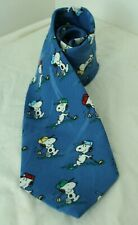 Peanuts Snoopy Blue Character Novelty Tie
