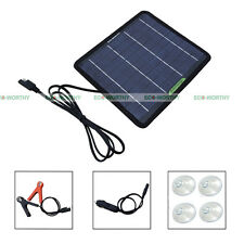 Smart 5W Portable Solar Panel Power Battery Charger Backup Home Car Boat Motor