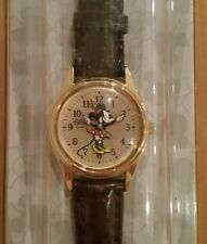 New Disney Parks Exclusive Minnie Mouse Vintage Ladies Brown Watch Moving Hands