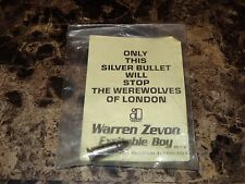 Warren Zevon Rare Promo Prop Record Label Silver Bullet Werewolves Of London New